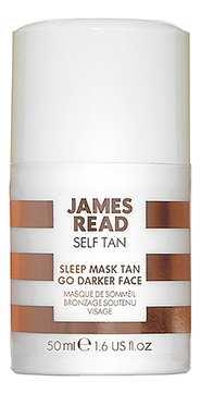 Ночная маска для лица уход и загар темная SLEEP MASK TAN GO DARKER FACE